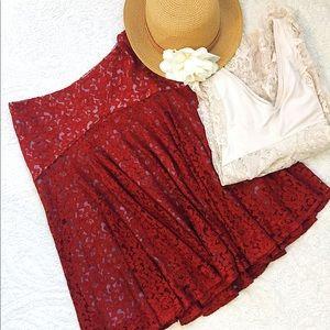 Anthropologie Moulinette Soeurs Nolana Lace Skirt